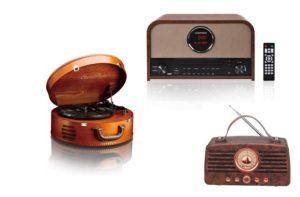 Retro Radios aus Holz
