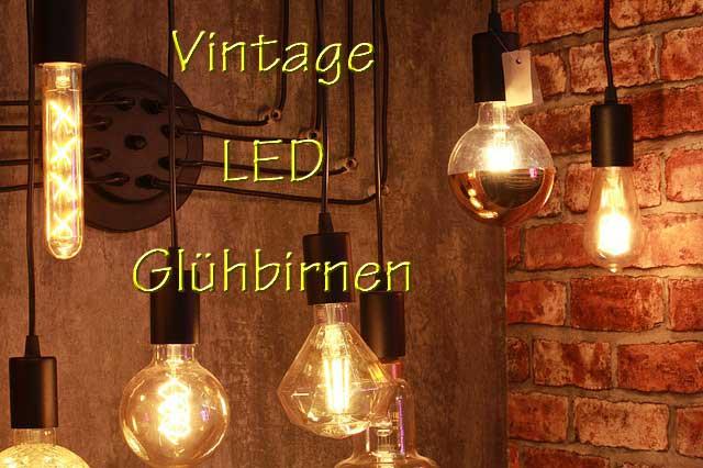 Mehrere Vintage LED Birnen